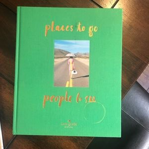 "Kate Spade ""places to go people to see"" book"